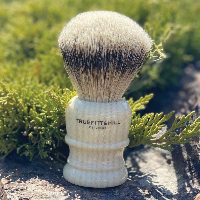 "Truefitt & Hill Shaving Brush Style 3 Small ""Silvertip Badger"" - Ivory"