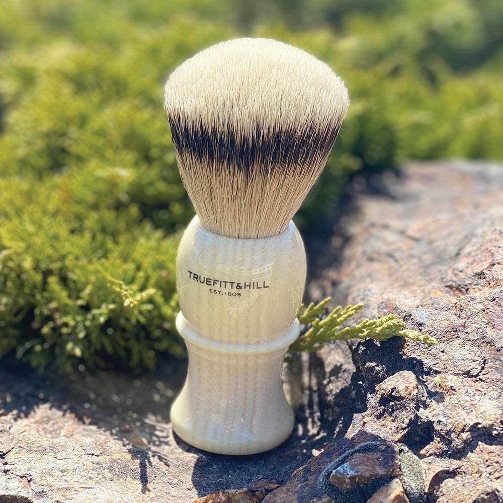 "Truefitt & Hill Shaving Brush Style 3 Large ""Silvertip Badger"" - Ivory"
