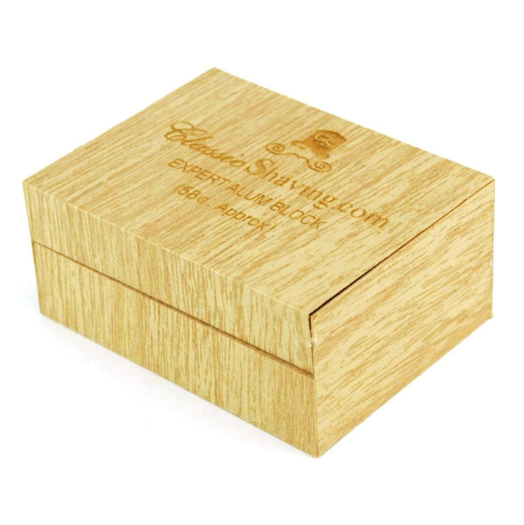 Classic Brand Small Alum Block in wooden box, 58 grams-