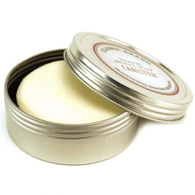 Classic Brand Travel Shave Soap Canister with Soap-