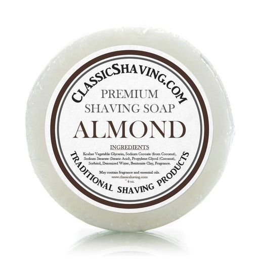 "Classic Shaving Mug Soap - 3"" Almond-"