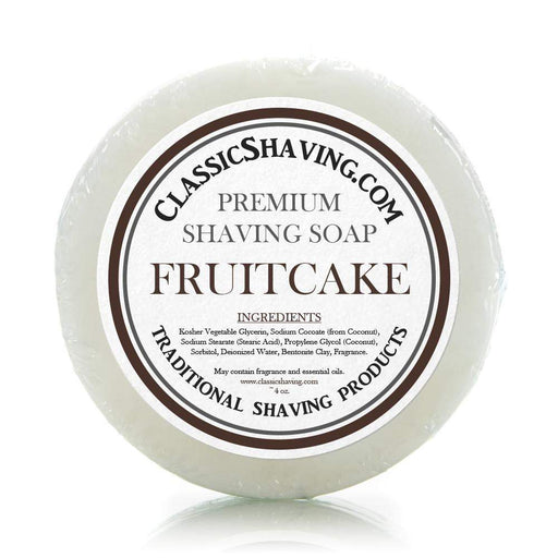 "Classic Shaving Mug Soap - 3"" Fruitcake-"