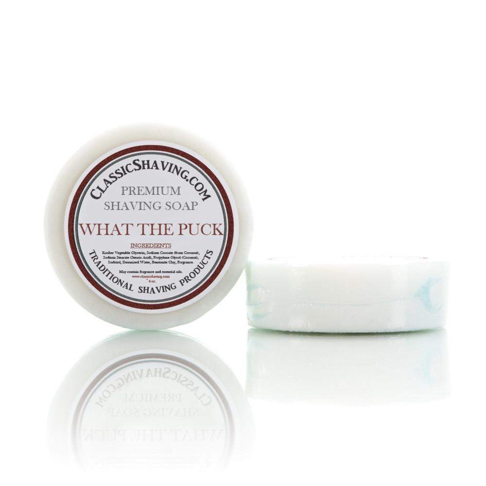 "Classic Shaving Mug Soap - 3"" Large - ""What The Puck""-"