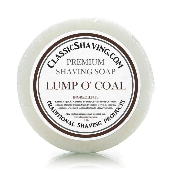 "Classic Shaving Mug Soap - 3"" Lump o' Coal-"