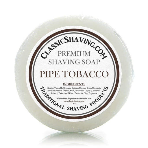 "Classic Shaving Mug Soap - 3"" Pipe Tobacco-"