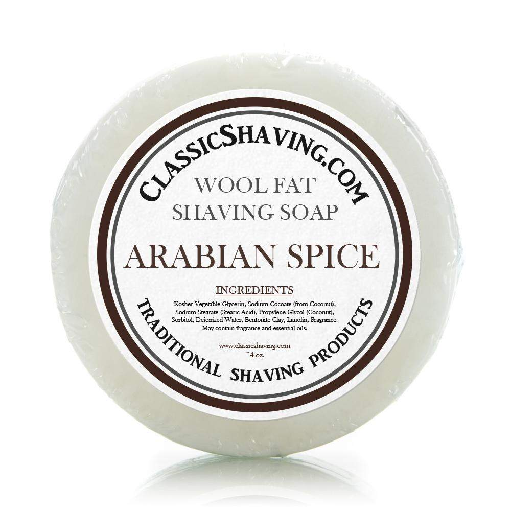 "Classic Shaving Wool Fat Shaving Soap - 3"" Arabian Spice-"