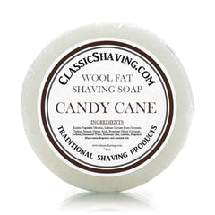 "Classic Shaving Wool Fat Shaving Soap - 3"" Candy Cane-"