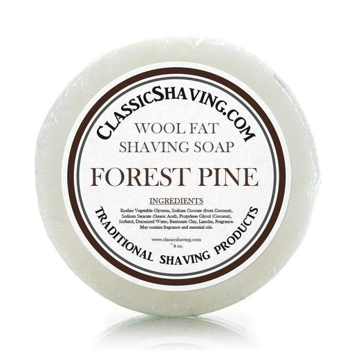 "Classic Shaving Wool Fat Shaving Soap - 3"" Forest Pine-"