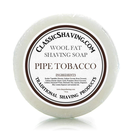"Classic Shaving Wool Fat Shaving Soap - 3"" Pipe Tobacco-"