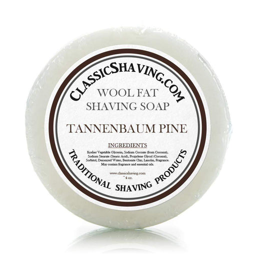 "Classic Shaving Wool Fat Shaving Soap - 3"" Tannenbaum Pine-"