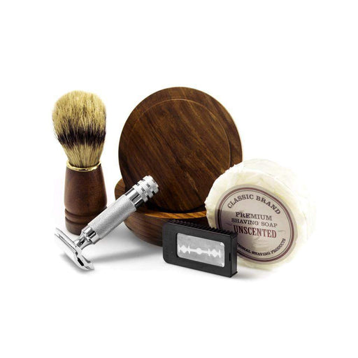 Classic Woodsman Complete Shave Kit with Initials Included-