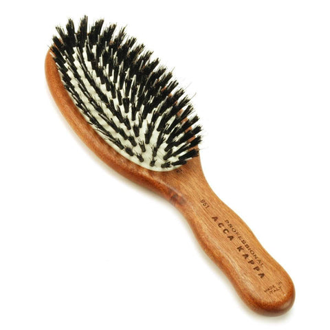 Compact Pro Pneumatic Boar/Nylon Bristle Hardwood Hair Brush-
