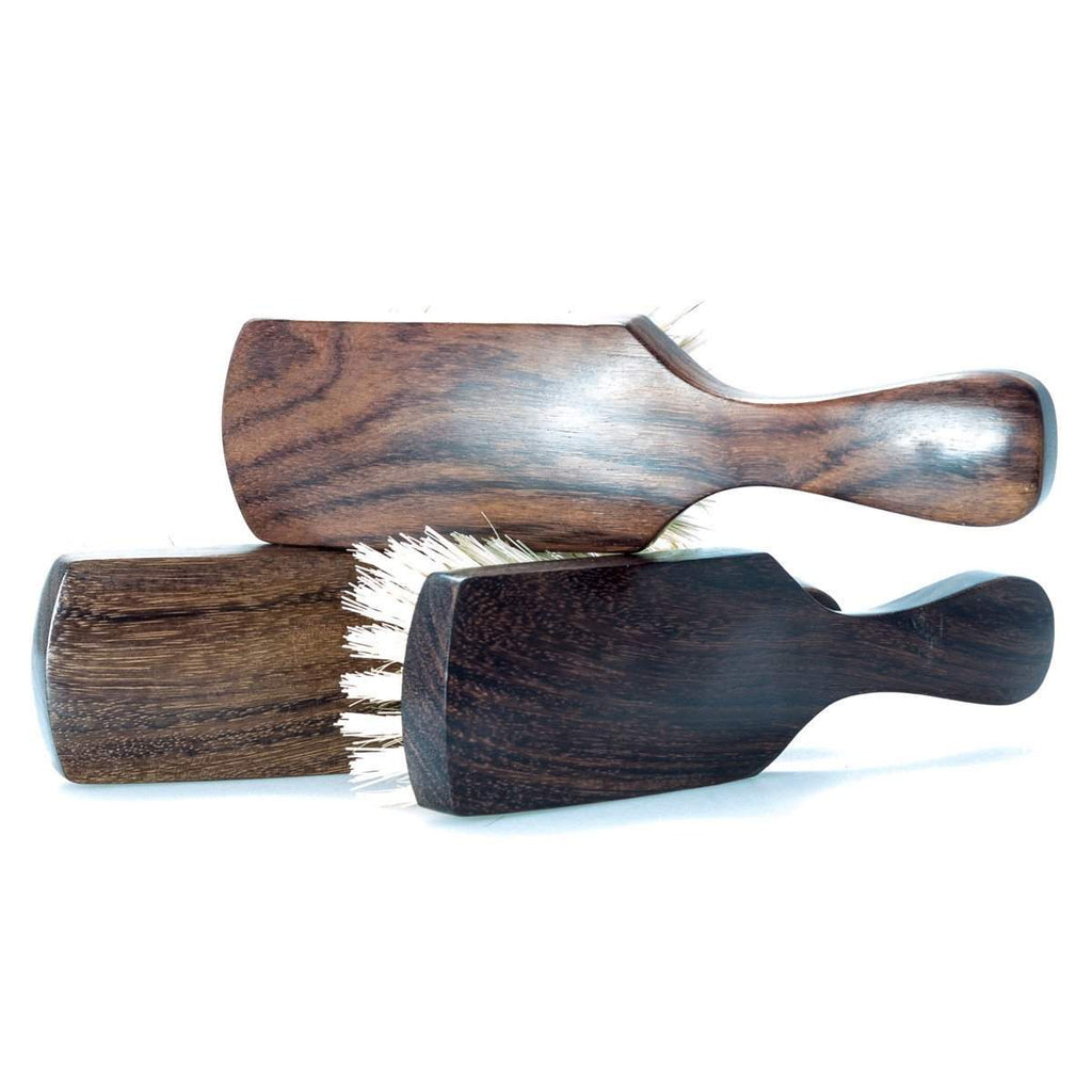 Dark Hardwood Club Handle Hair Brush-