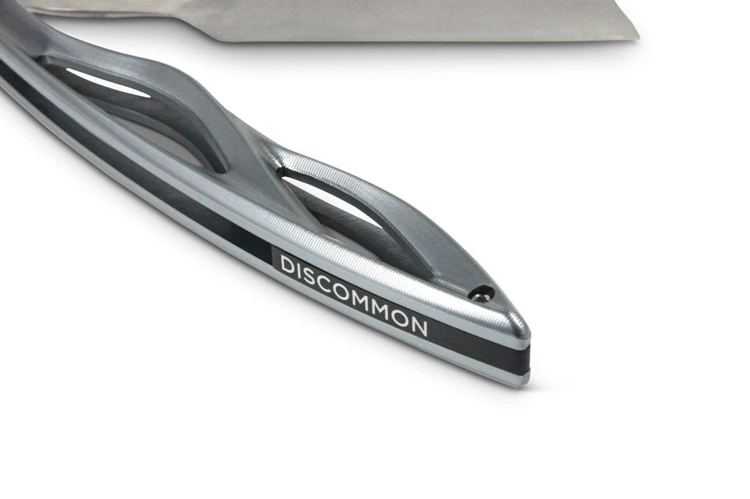 "Discommon ""Anodized Aluminum Scale with Traditional Grind"" Straight Razor-"