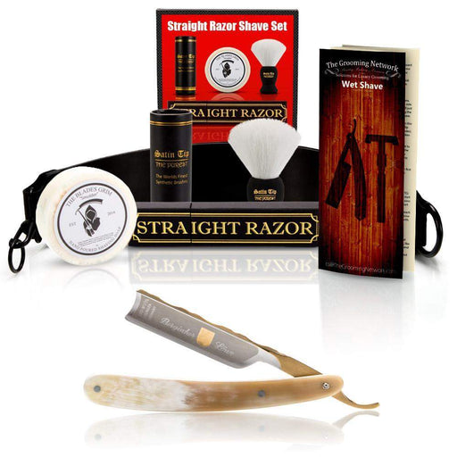 "DOVO 5/8"" ""Bergisher Lowe"" Straight Razor with Luxury Shave Set-"