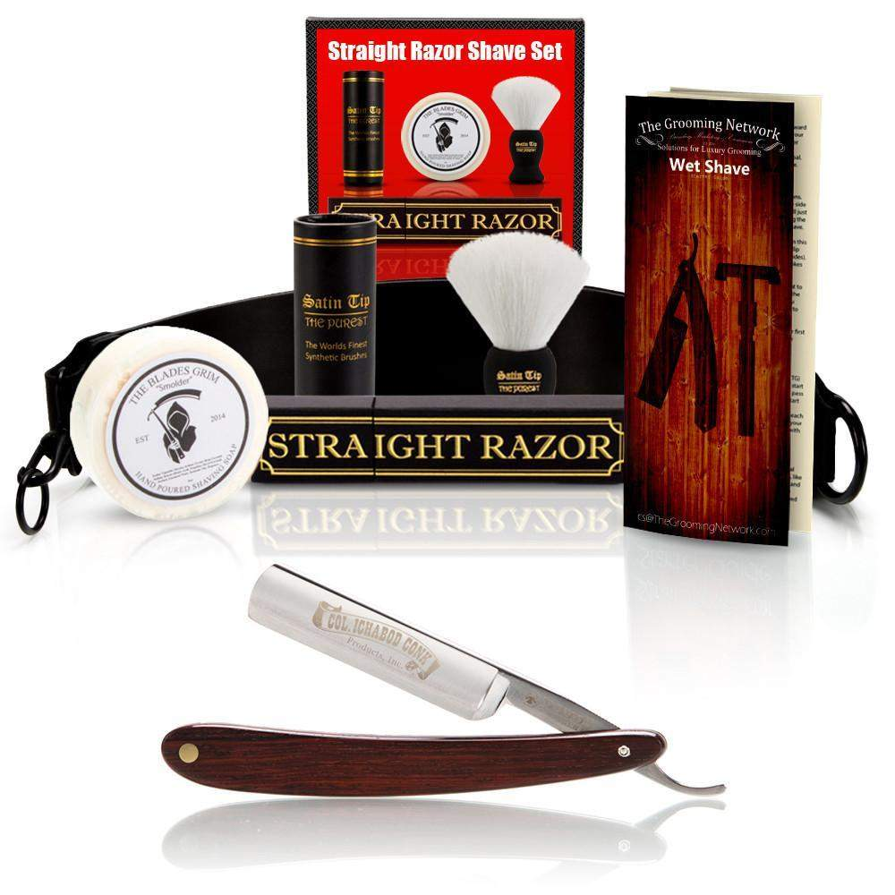 "DOVO 5/8"" ""Cocobolo"" Straight Razor with Luxury Shave Set-"