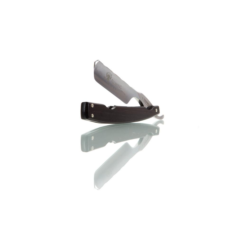 "DOVO 6/8 ""Flowing"" Straight Razor, Grenadille Scales-"
