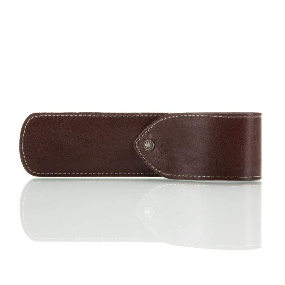 Dovo Brown Leather Straight Razor Sheath-
