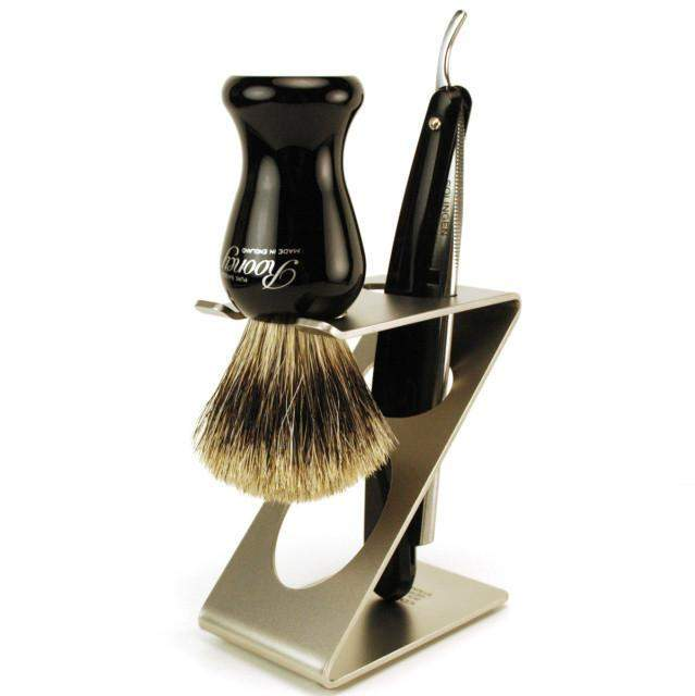 "Dovo ""Zorro"" Contemporary Brush & Razor Stand-"