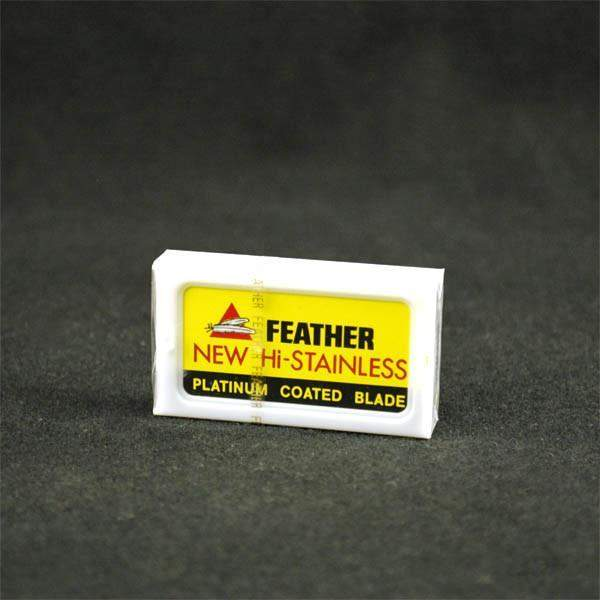 Feather Hi Stainless Platinum Double-Edge Blades 10 Pack-