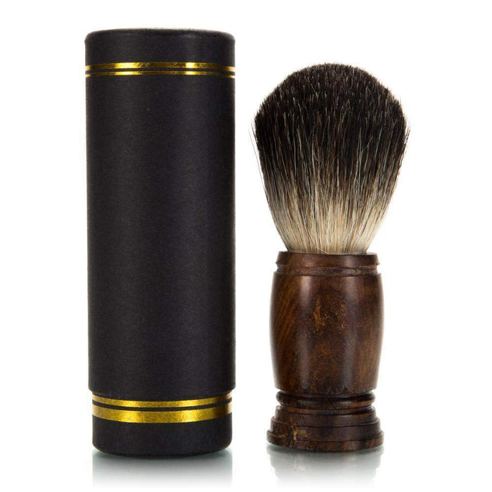 Fine Badger Shaving Brush - Natural Wood Handle-
