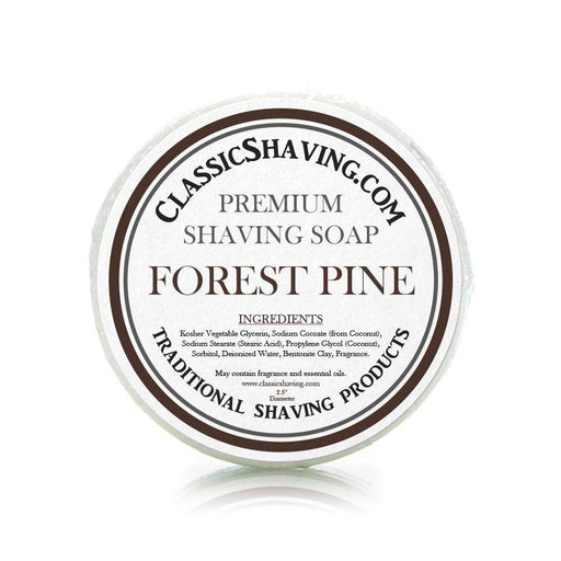 "Forest Pine Scent - Classic Shaving Mug Soap - 2.5"" Regular Size-"