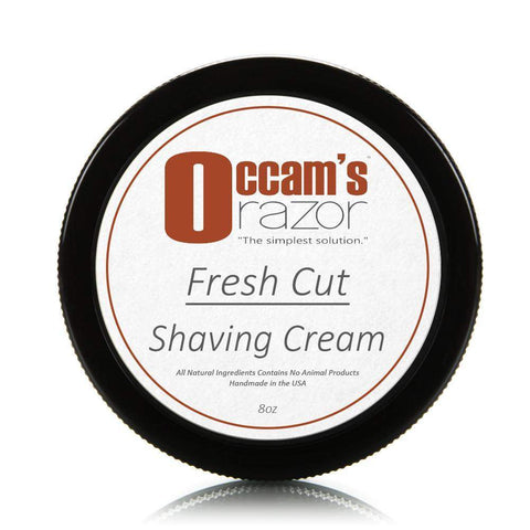 Fresh Cut - 8 oz Occam's Razor Certified Organic Shave Cream-