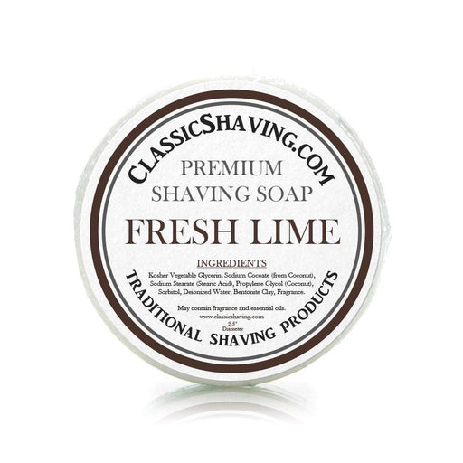 "Fresh Lime Scent - Classic Shaving Mug Soap - 2.5"" Scuttle-"
