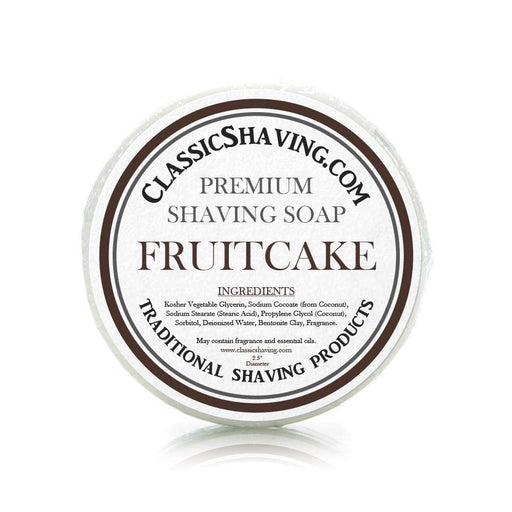 "Fruitcake Scent - Classic Shaving Mug Soap - 2.5"" Regular Size-"