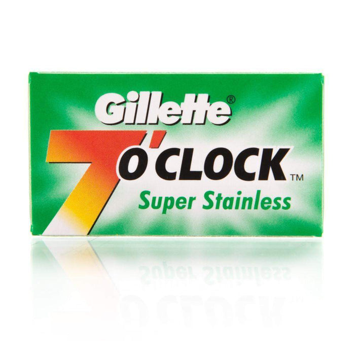 Gillette 7 O'Clock Super Stainless Double Edge Blades - 5 pack-