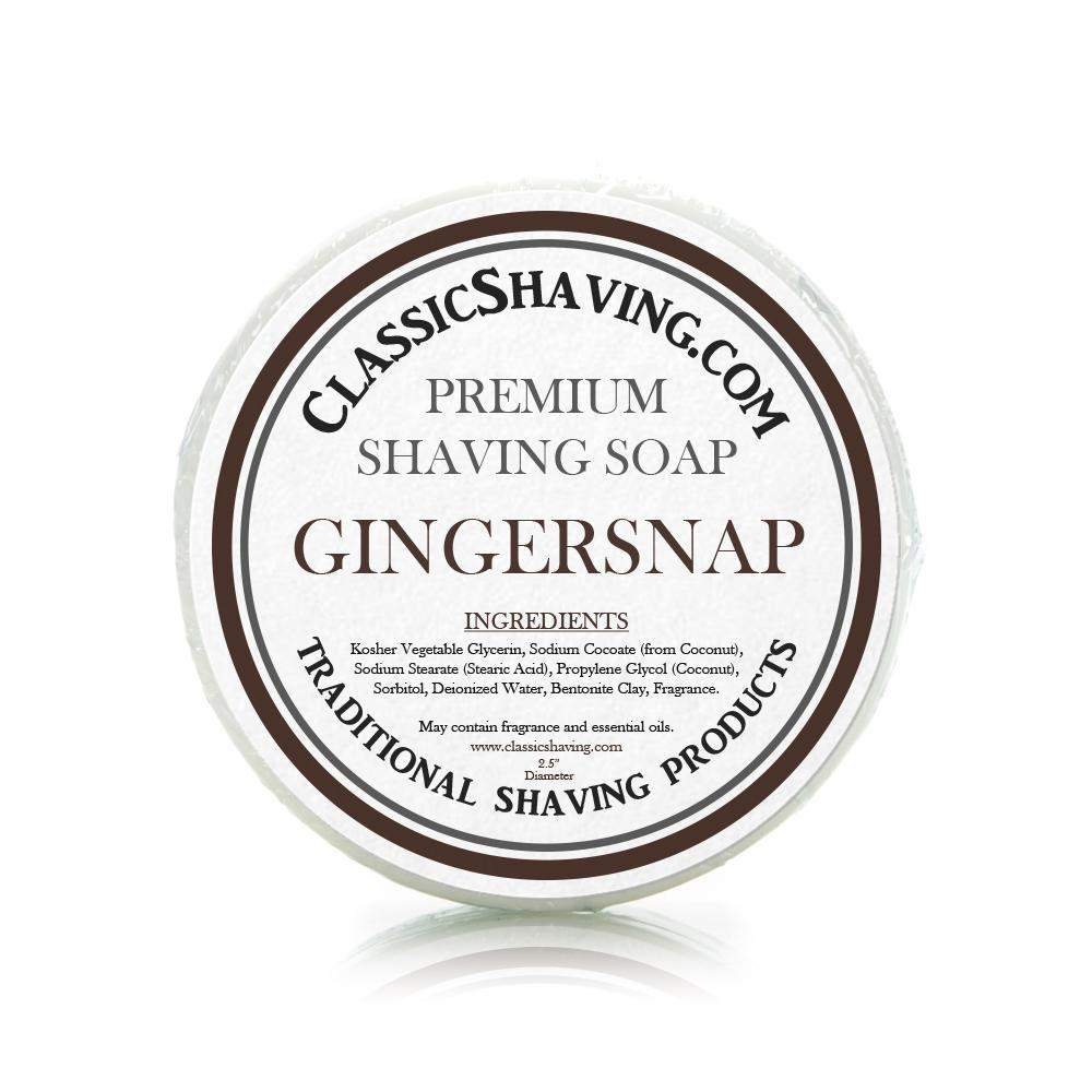 "Gingersnap Scent - Classic Shaving Mug Soap - 2.5"" Scuttle-"