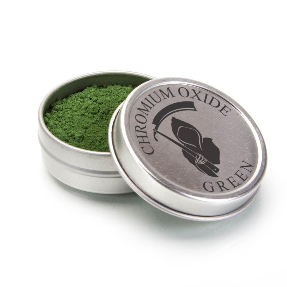 GREEN CHROMIUM OXIDE 1OZ .3 MICRON STROP POWDER