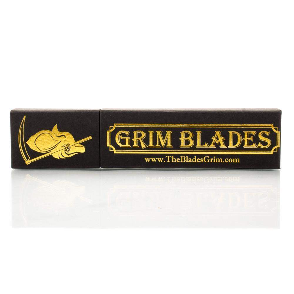 Grim Blades Round Tip Carbon Fiber with Luxury Shave Kit-
