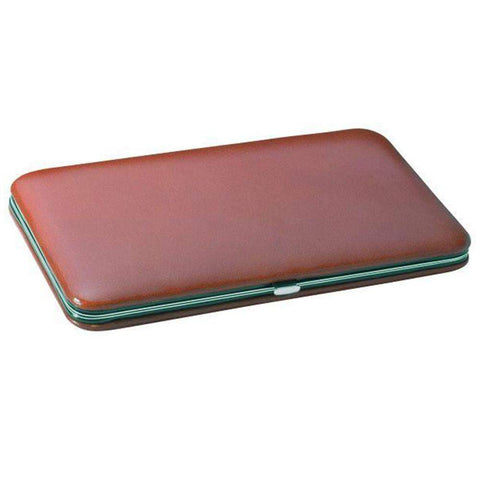 Hard-Sided Leather Case for Two Razors-