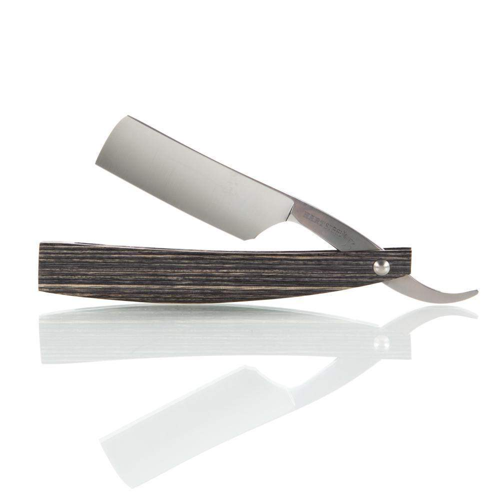 Hart Custom #417: 7/8 Square Point Salt & Pepper Straight Razor - Terry Van Norman-