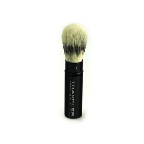 H.I.S. Traveler Shaving Brush-Black (Synthetic)-