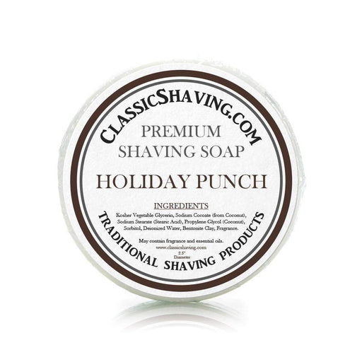 "Holiday Punch Scent - Classic Shaving Mug Soap - 2.5"" Regular Size-"