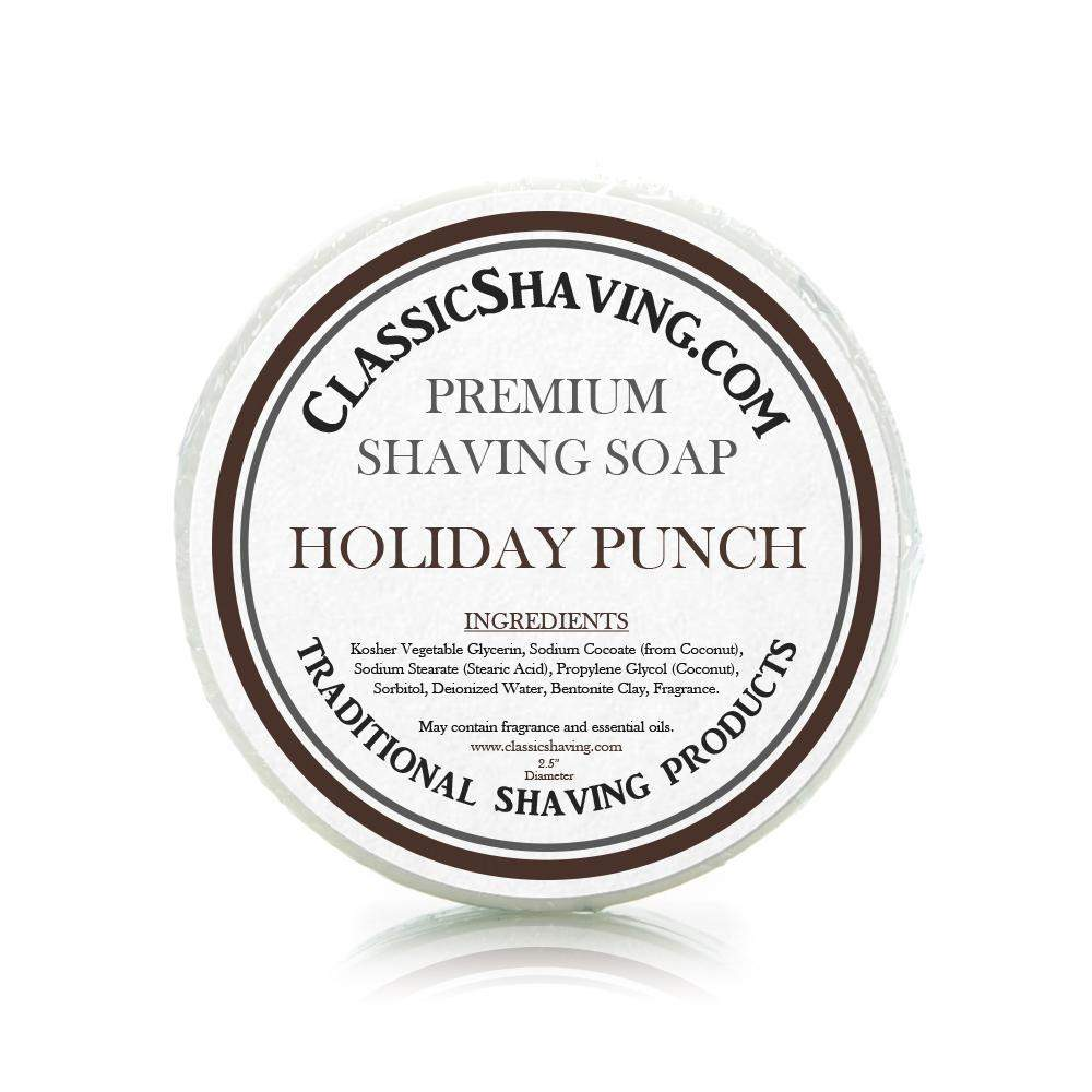 "Holiday Punch Scent - Classic Shaving Mug Soap - 2.5"" Scuttle-"