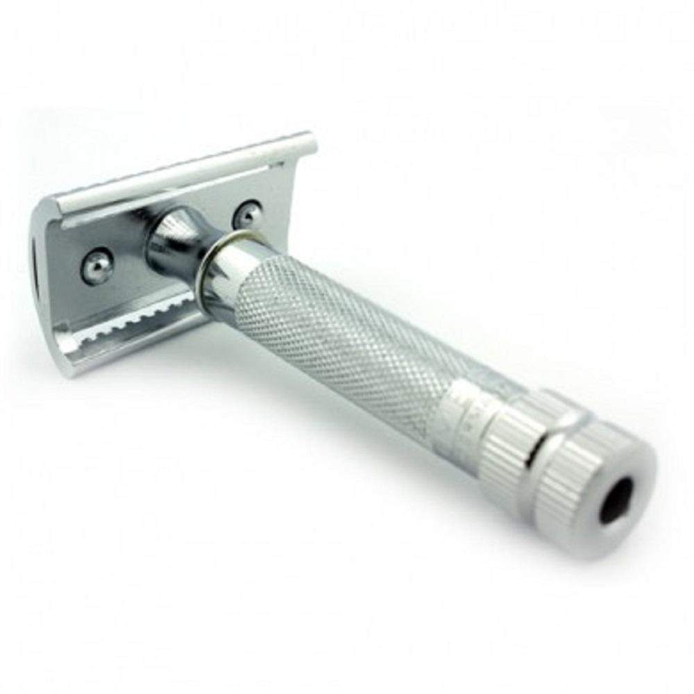 Merkur 37C Safety Razor with Slant Bar, Chrome