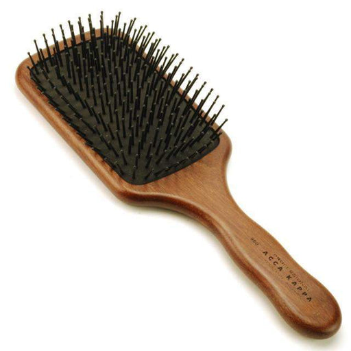 Large Paddle Hardwood Hair Brush w/ Heat Resistant Pins-
