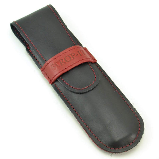 "Leather Straight Razor Case by ""Strop It""-"