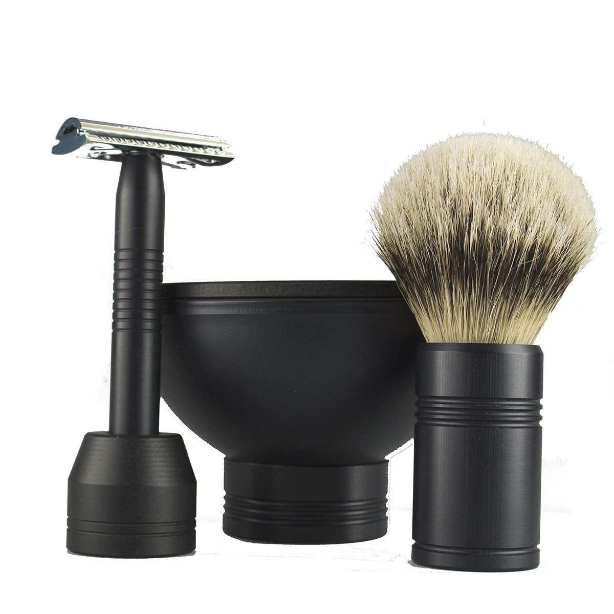 Leitch American made Complete Shave Set In Black-