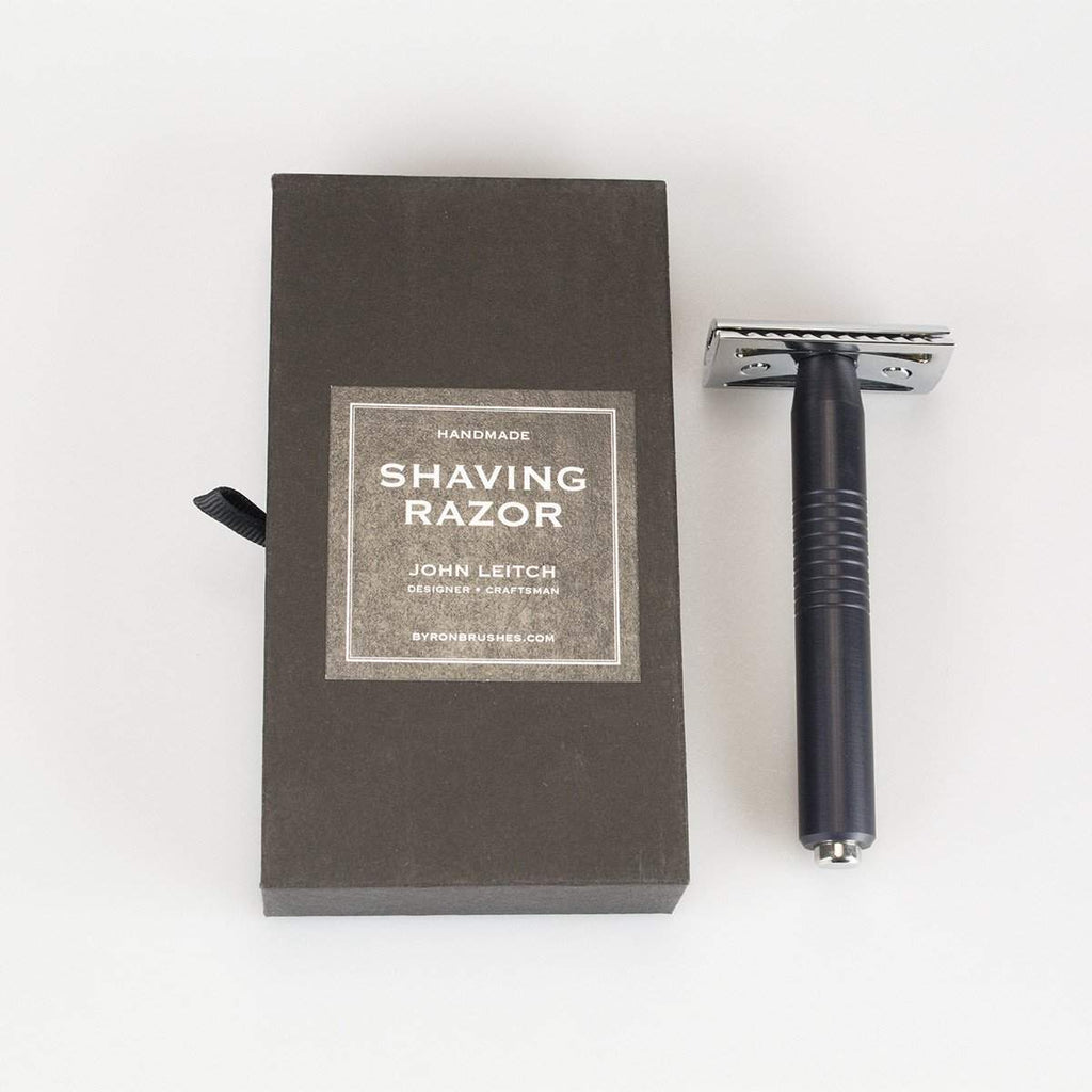 Leitch American made handle w/ Closed Comb Safety Razor Head-