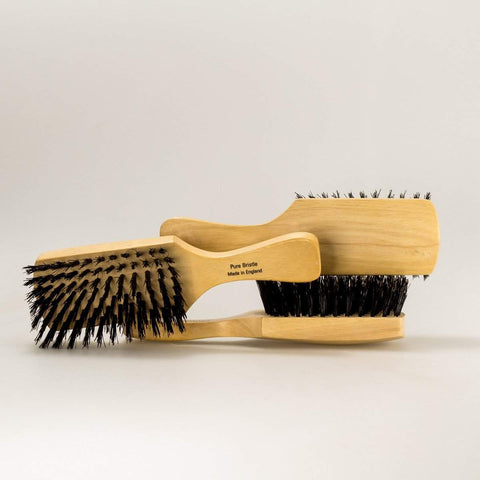 Light Hardwood Club Handle Hair Brush-