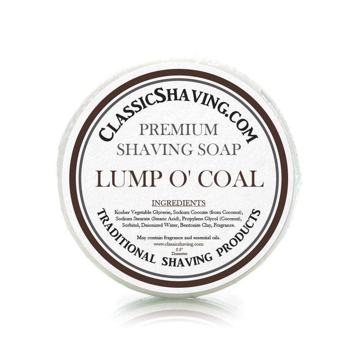 "Lump o' Coal Scent - Classic Shaving Mug Soap - 2.5"" Scuttle-"