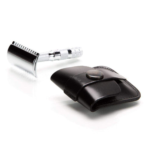 Merkur Double-Edge Travel Razor w/Case (Open or Closed Comb)-