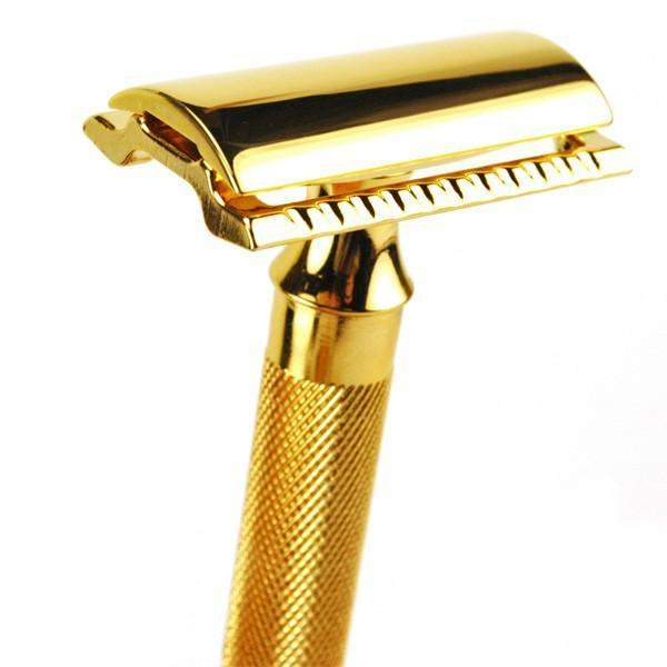 "Merkur ""Hefty Classic"" Safety Razor (Chrome or Gold)-Gold"