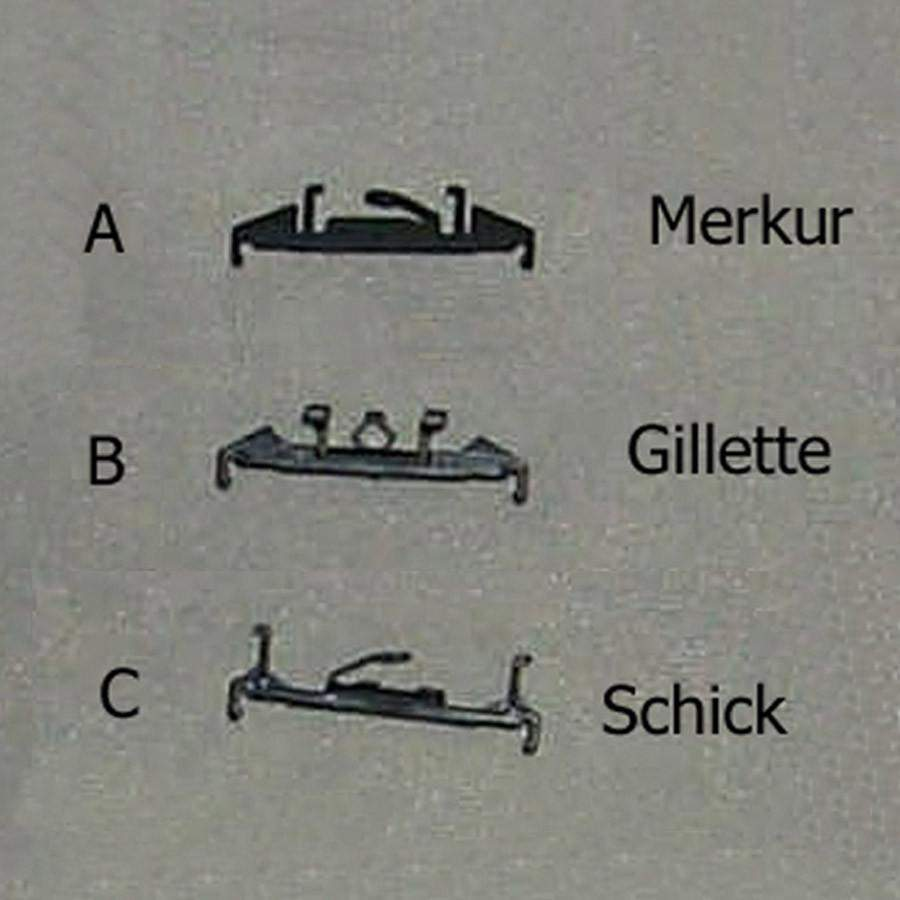 Merkur Pivoting Cartridge Adapters-Gillette