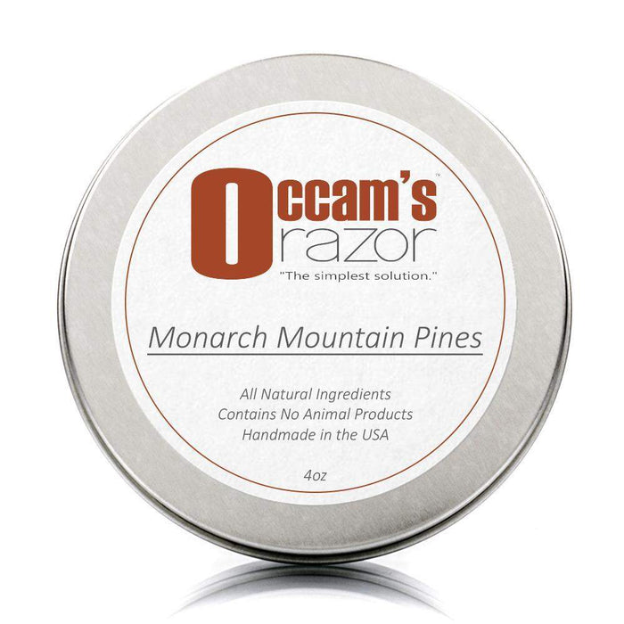 "Monarch Mountain Pines - 4 oz Occam's Razor 3"" Shave Soap-"