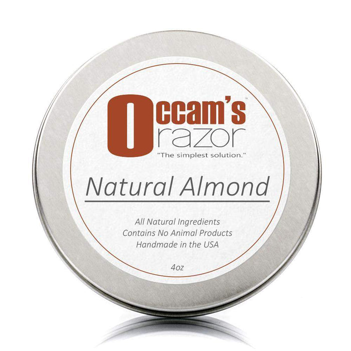 "Natural Almond - 4 oz Occam's Razor 3"" Shave Soap-"